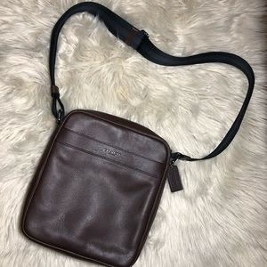 Coach Men's crossbody leather bag